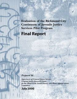 Evaluation of the Richmond City Continuum of Juvenile Justice Services Pilot Program