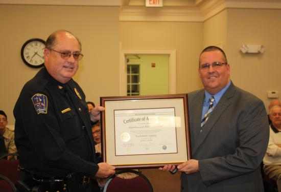 On March 14, the Tappahannock Police Department was formerly awarded their Initial Accreditation Certificate.