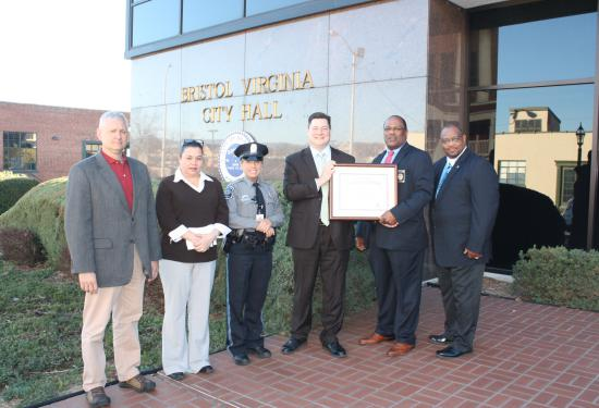 On March 22, The Bristol Police Department was formally recognized and awarded their Initial Accreditation Certificate.