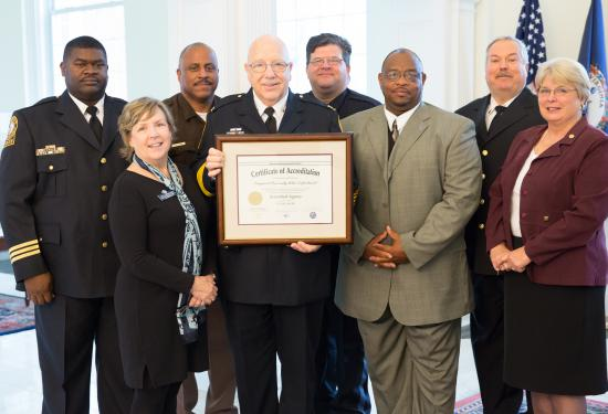 On April 1, 2016 The Longwood University Police Department was formally awarded their Initial Accreditation Certificate during the Longwood Board of Visitors meeting.