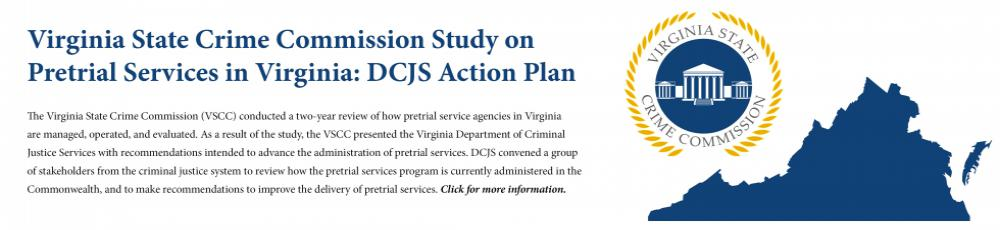 Virginia State Crime Commission Study on Pretrial Services in Virginia: DCJS Action Plan