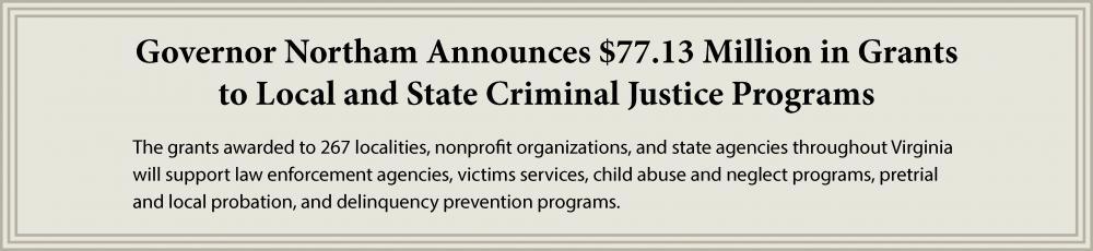 $77.13 Million in Grants to CJ Programs
