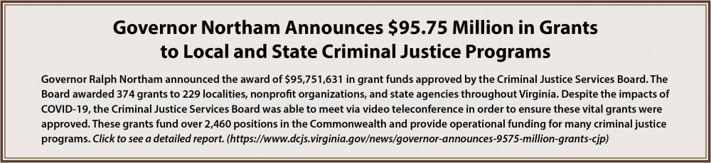 $95.75 Million in Grants to CJ Programs
