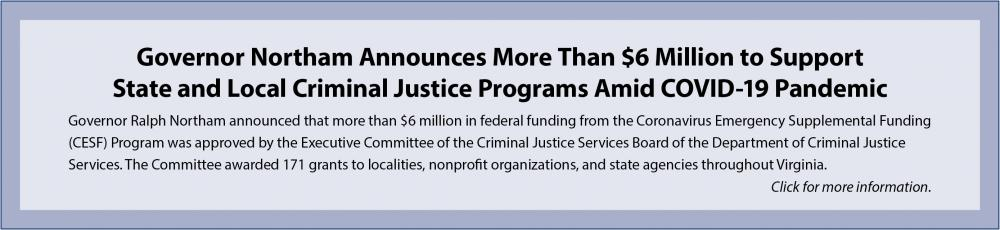 Grant for CJ Programs Amid COVID-19 Pandemic